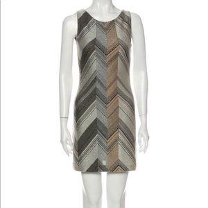 M Missoni Printed chevron metallic mini dress XS
